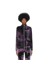 Palm Angels Purple Chenille Tie Dye Track Jacket