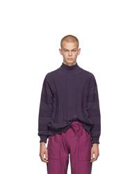 Issey Miyake Men Purple Fit Knit Turtleneck
