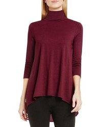 Vince Camuto Mixed Media Turtleneck