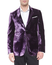 Paul Smith Bayard Liquid Velvet Two Button Jacket