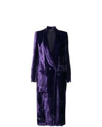 Erika Cavallini Double Breasted Velvet Coat