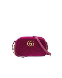 Dark Purple Velvet Crossbody Bag