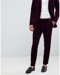 Jack & Jones Premium Slim Fit Velvet Suit Trouser