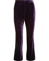Raquel Diniz Eunice Silk Velvet Flared Pants