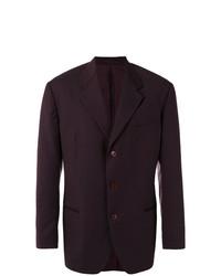 Romeo Gigli Vintage Pinstriped Blazer Red