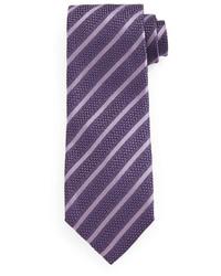 Tom Ford Diagonal Striped Tie Purple