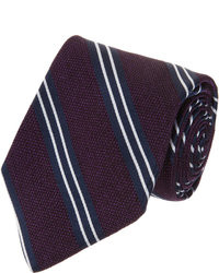 Barneys New York Striped Silk Jacquard Tie