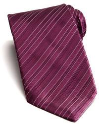 Stefano Ricci Tonal Stripe Silk Tie Purple
