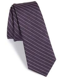 Wrk Stripe Wool Cotton Tie