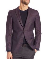 Dark Purple Wool Blazer