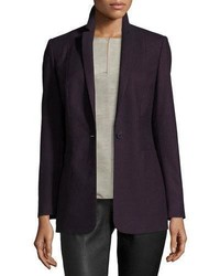 Dark Purple Wool Blazer