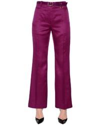 Nina Ricci Wool Silk Gabardine Flared Pants