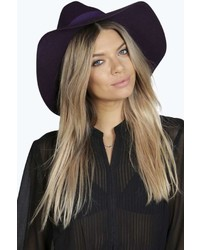 Boohoo Boutique Bella Wide Brim Wool Fedora