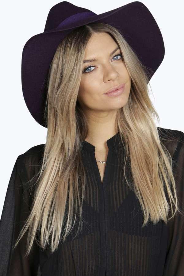 ... Boohoo Boutique Bella Wide Brim Wool Fedora ... 6e3d9531bd0
