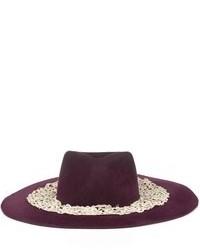 Littledoe Burgundy Lace Blossom Hat
