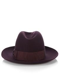 Borsalino Purple Felt Donna Trilby