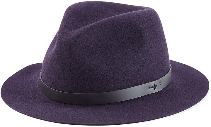 ... Purple Wool Hats Rag   Bone Wool Fedora ... ffdf2dfba64