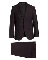 BOSS Novanben Trim Fit Solid Wool Mohair Suit