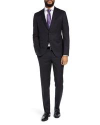 BOSS Reymondwenten Extra Trim Fit Solid Wool Suit