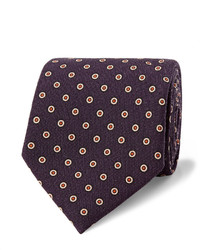 Dark Purple Wool Tie