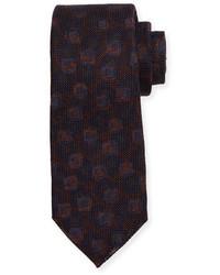 Kiton Grenadine Woven Silk Tie Merlot