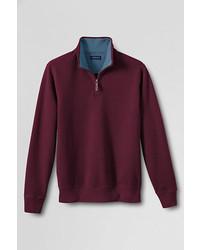 Dark Purple Zip Neck Sweater