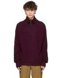 Wooyoungmi Purple Knit Turtleneck