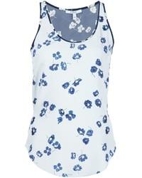 Débardeur en soie à fleurs bleu clair Derek Lam 10 Crosby