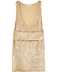 Débardeur pailleté beige Givenchy