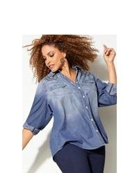 Denim button down blouse original 8065876