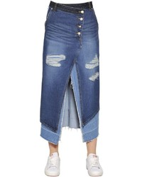 Denim midi skirt original 9794193