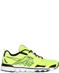 Deportivas en amarillo verdoso
