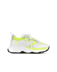 Deportivas en blanco y amarillo de MSGM