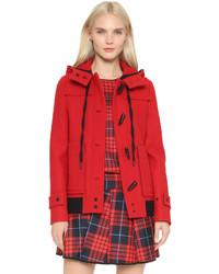 Duffel-coat rouge Victoria Beckham