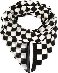 749d4e34da14 Écharpe à carreaux blanche et noire Burberry  Où acheter et comment ...