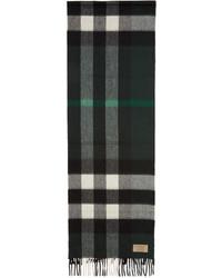Écharpe à carreaux vert foncé Burberry