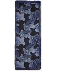 Écharpe à fleurs bleue marine Armani Collezioni  Où acheter et ... f3af4e905ef