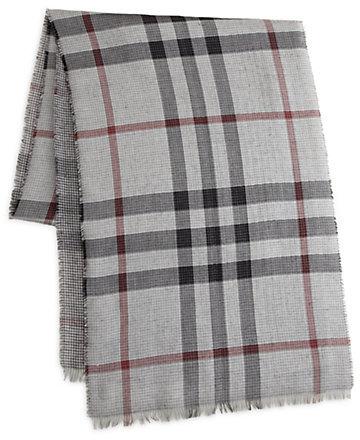 Écharpe écossais gris Burberry  Où acheter et comment porter 24f2353840c