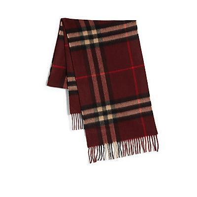 Écharpe écossaise bordeaux Burberry  Où acheter et comment porter 498a0a87413