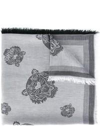 Écharpe en coton grise Kenzo