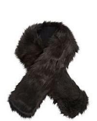 Écharpe en fourrure noire Buji Baja