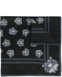 Écharpe en soie noire Kenzo