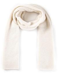 Écharpe en tricot blanche Vince