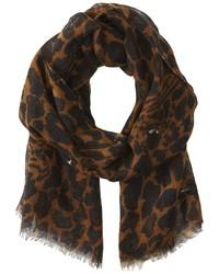 Écharpe imprimée léopard brune Diesel
