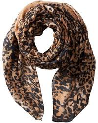 Écharpe imprimée léopard brune San Diego Hat Company
