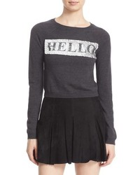 Embellished crew neck sweater original 4434892