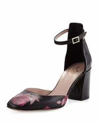 Escarpins en cuir à fleurs noirs Kate Spade