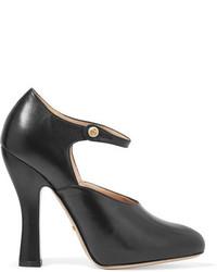 Escarpins en cuir découpés noirs Gucci