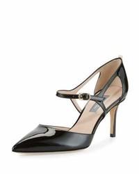 Escarpins en cuir découpés noirs Sarah Jessica Parker