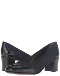 Escarpins en cuir épaisses noirs Gravati